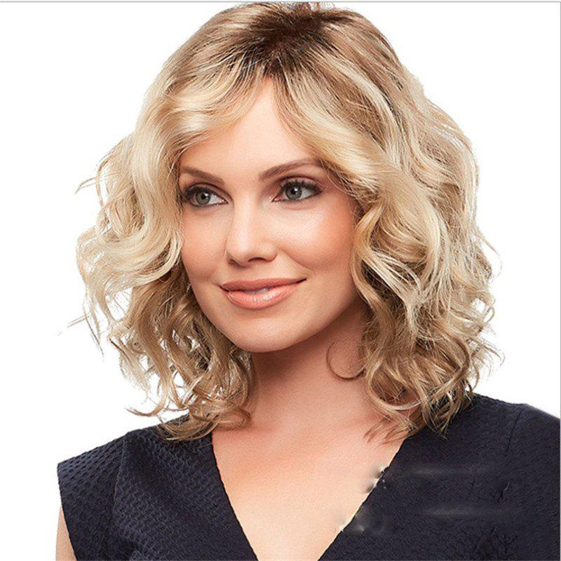 Latest Golden Short-Roll Gradient Wig with High Temperature Sericin Paper Mesh