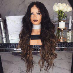 Long Curly Hair with Large Wave Gradient Color Chemical Fiber Wig -