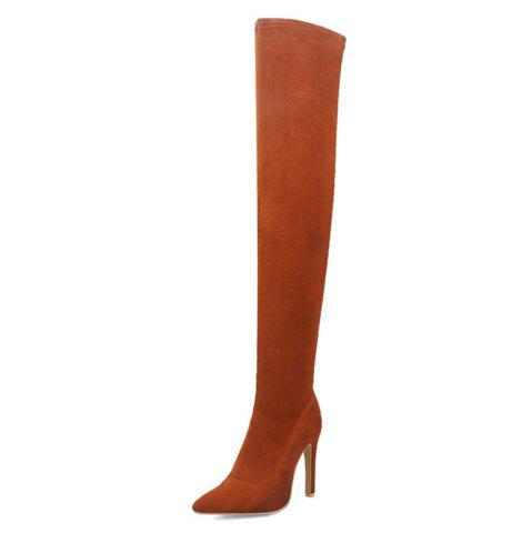 Woman Large Size 31-43 Over The Knee Boots Thin High Heels Shoes Sexy Party Boot