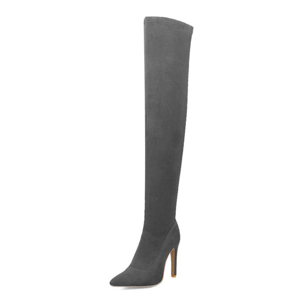 d3dc32471c008 Woman Large Size 31-43 Over The Knee Boots Thin High Heels Shoes Sexy Party  Boot