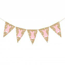 2 Meters Easter Burlap Pennant Flags Banners Rabbit Wave Point -