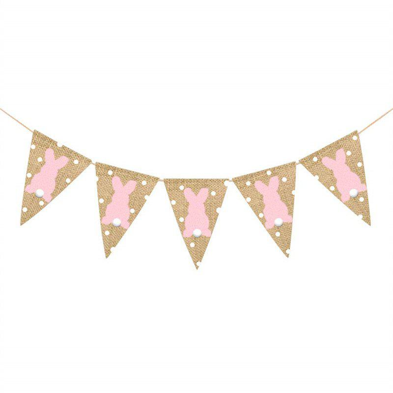 Shops 2 Meters Easter Burlap Pennant Flags Banners Rabbit Wave Point