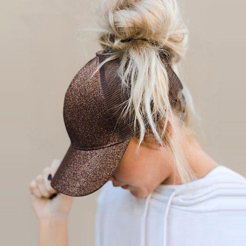 Affordable New Sequined Ponytail Baseball Cap Rear Opening Ponytail Cap