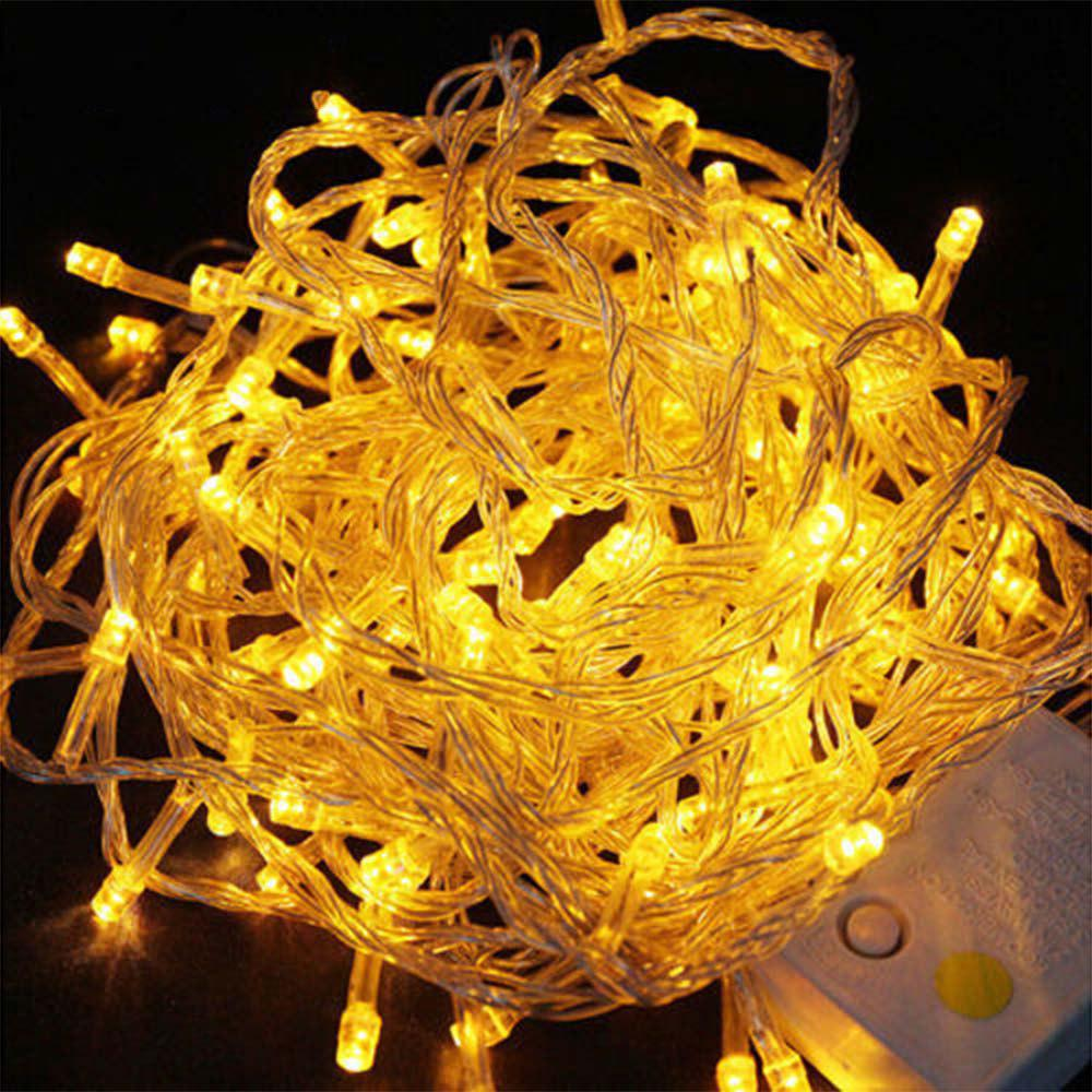 Uk Plug 220v Led Lanterns Gypsophila Firefly Stars Light Strings 20m 200 Lights