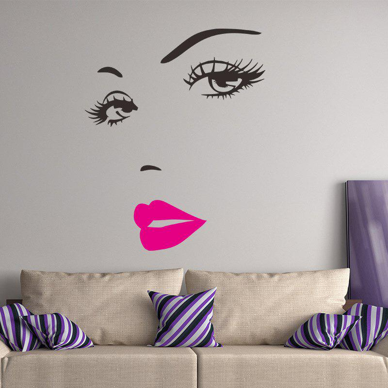 Sexy Eyelashes Goddess Living Room Bedroom Background Foreign Trade Wall Sticker