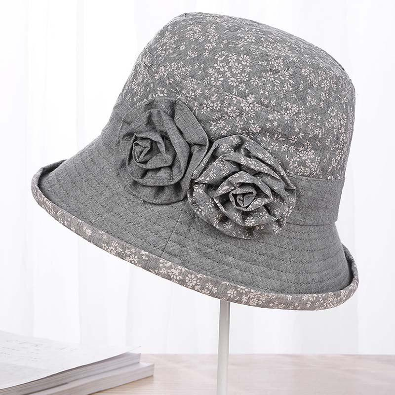 164c54c1018 Best New Lady Cotton Print Floral Comfortable Sunscreen Bucket Hat T0335