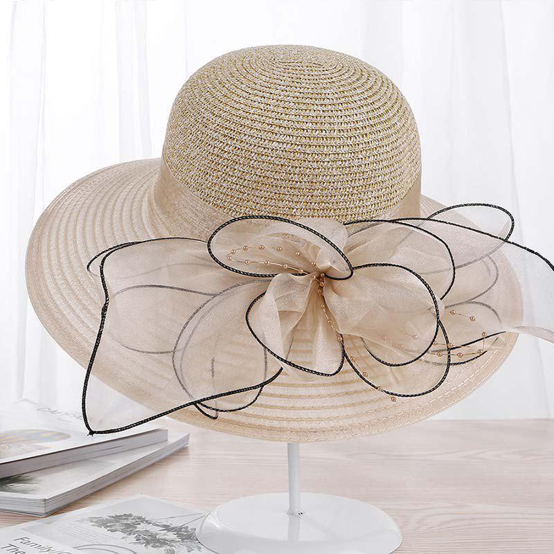 Latest New Lady Fashion Floral Breathe Sunscreen Hat T0341