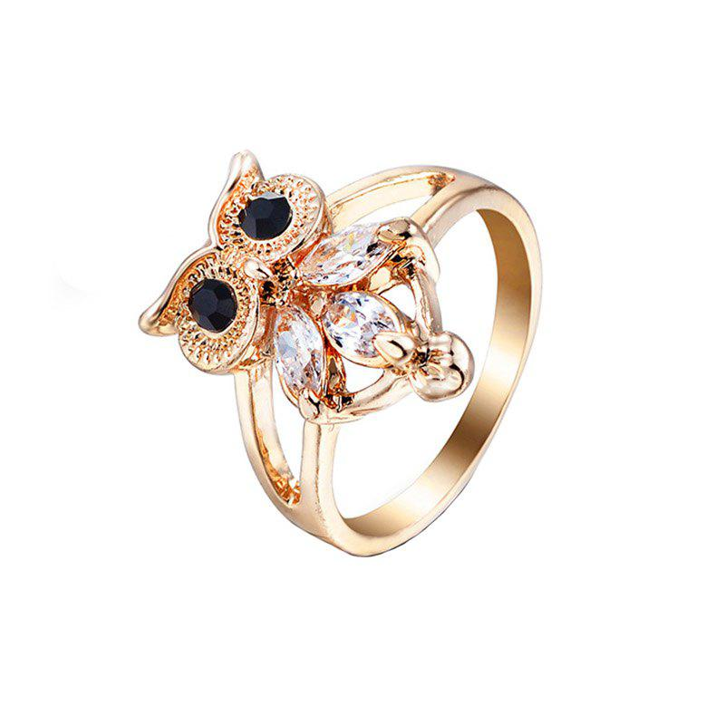 Creative Fashion Artificial Diamond Owl Shape Openwork Ring