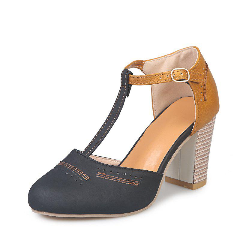 Cheap High Heeled Thick and Hollow Fashion Female Sandals P611