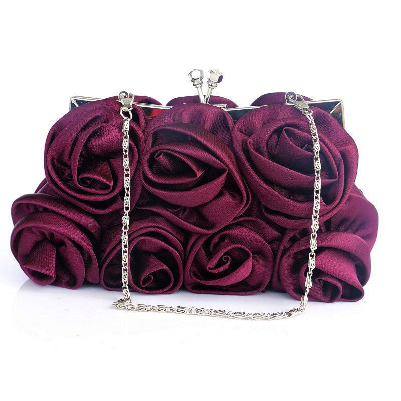 Outfit Rose Flower Lady Dinner Bag Bride Maid of Honor Wedding Bag Lady Lovely Lady Bag