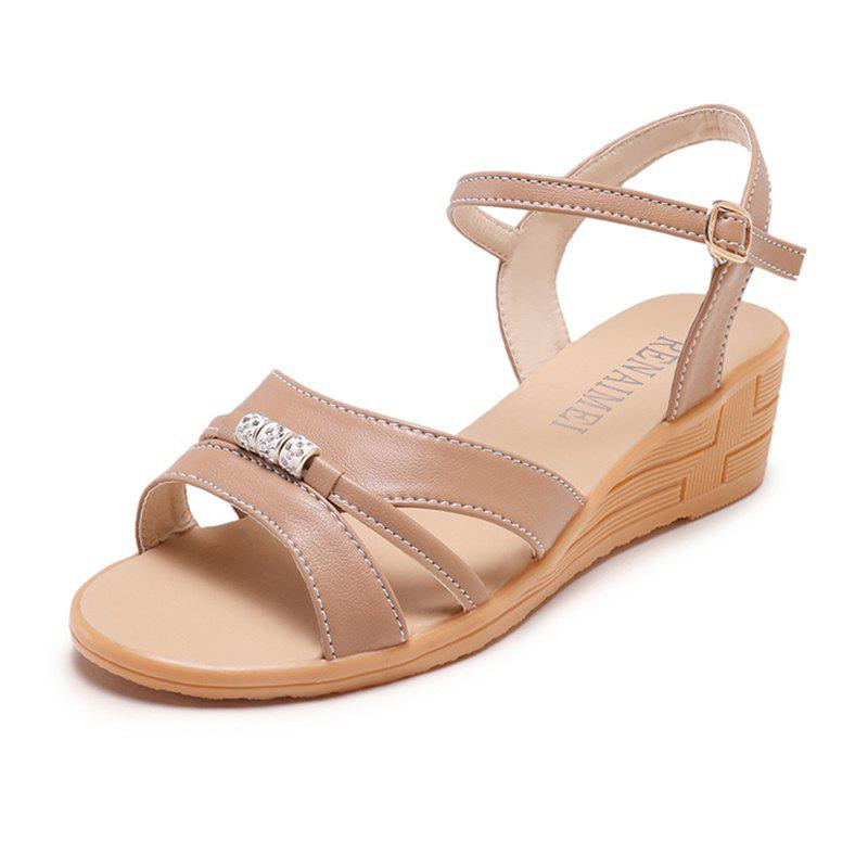 Online Fashion Beaded with Water Drill Female Sandals 169