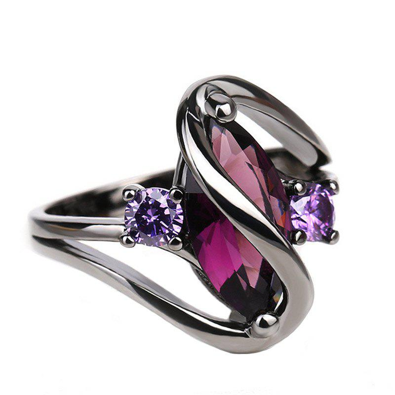 Discount New Creative Twisted Horse Eye Purple Zircon Ring