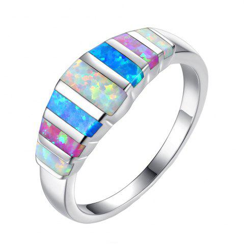 New Creative Color Natural Stone Wedding Ring
