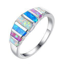 New Creative Color Natural Stone Wedding Ring -