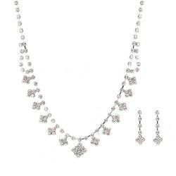 New Simple Square Necklace Set -