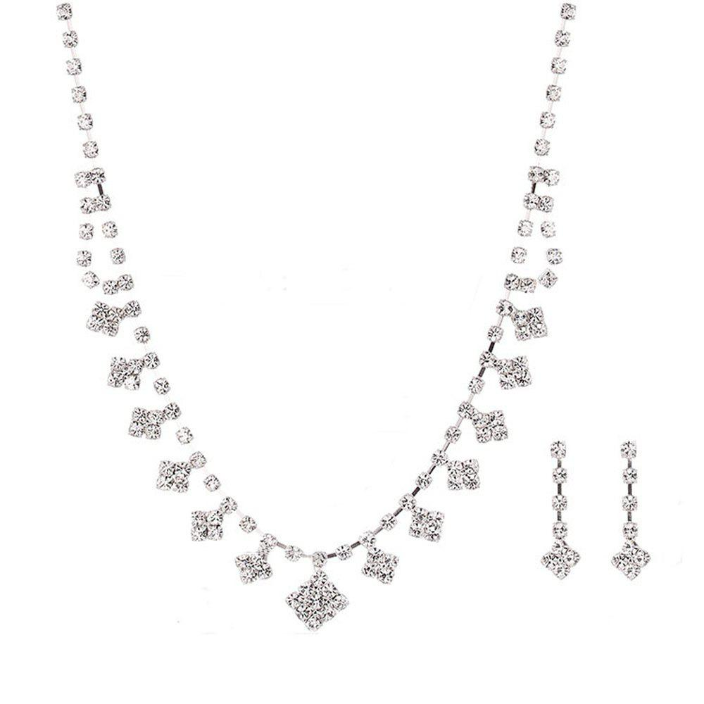 Affordable New Simple Square Necklace Set