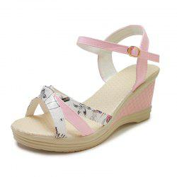 Bow Knot Fashion Slope and Female Sandals A3315 -