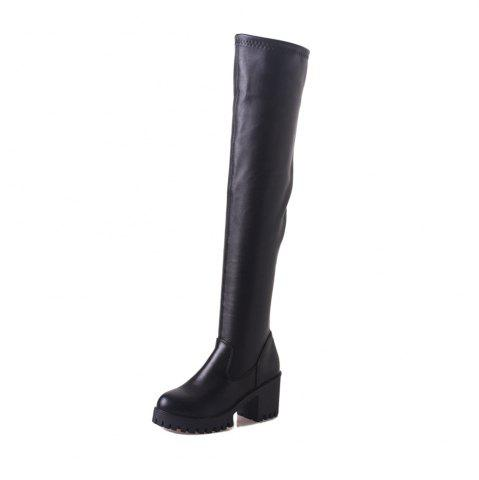 b0d5c12d15e7 Fashion Thick Heels Over Knee Boots 511