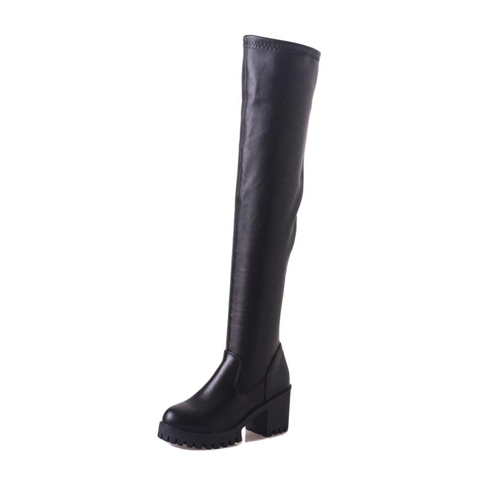 Chic Fashion Thick Heels Over Knee Boots 511