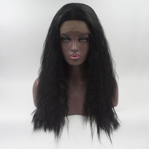 Synthetic Black Long Curly Lace Front Wigs For Women