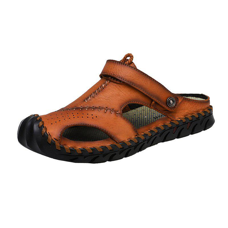 New Genuine Leather Men Shoes Summer Leisure Beach Men'S Sandals High Quality