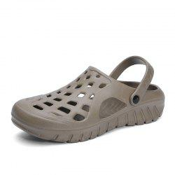 ZEACAVA Men's Large Size Hole Shoes Beach Sandals -