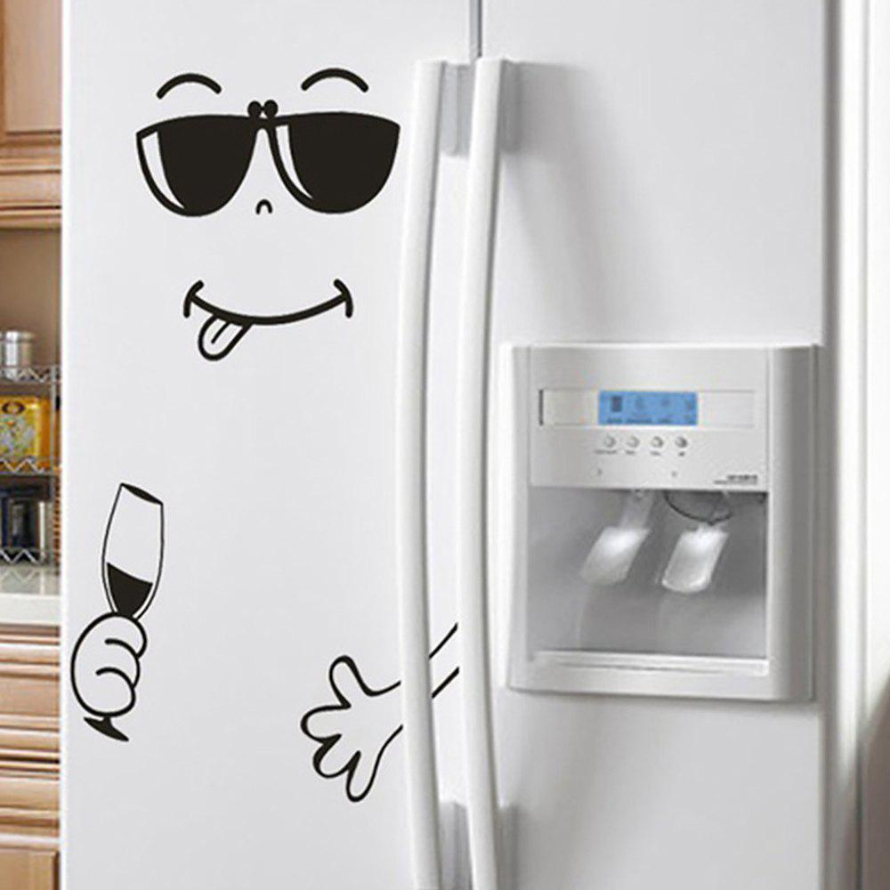 Creativity Happy Face Refrigerator Sticker PVC Waterproof Removable Wall Poster