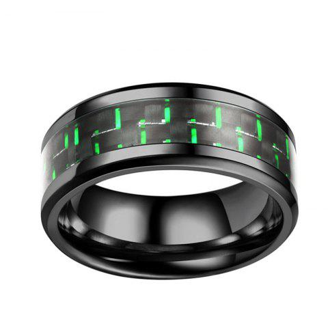 Neutral Tri Color Carbon Fiber Cool Couple S Rings Engagement Wedding Jewelry
