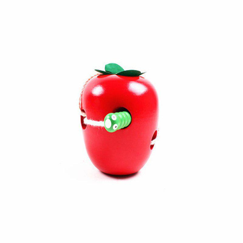 Shop Wooden Bugs Eat Apples Educational Early Education AIDS Children'S Small Toy