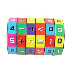 Mathematics Numbers Magic Cube Toy Slide Puzzles Learning  Educational Toy -