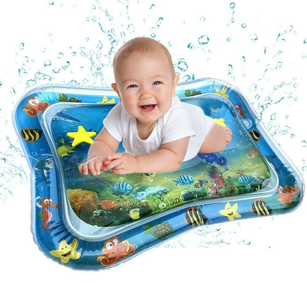 Unique Inflatable Baby Water Mat Fun Activity Play Center Infants