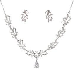 New Fashion Luxury High End Leaf Drip Type Necklace Set -