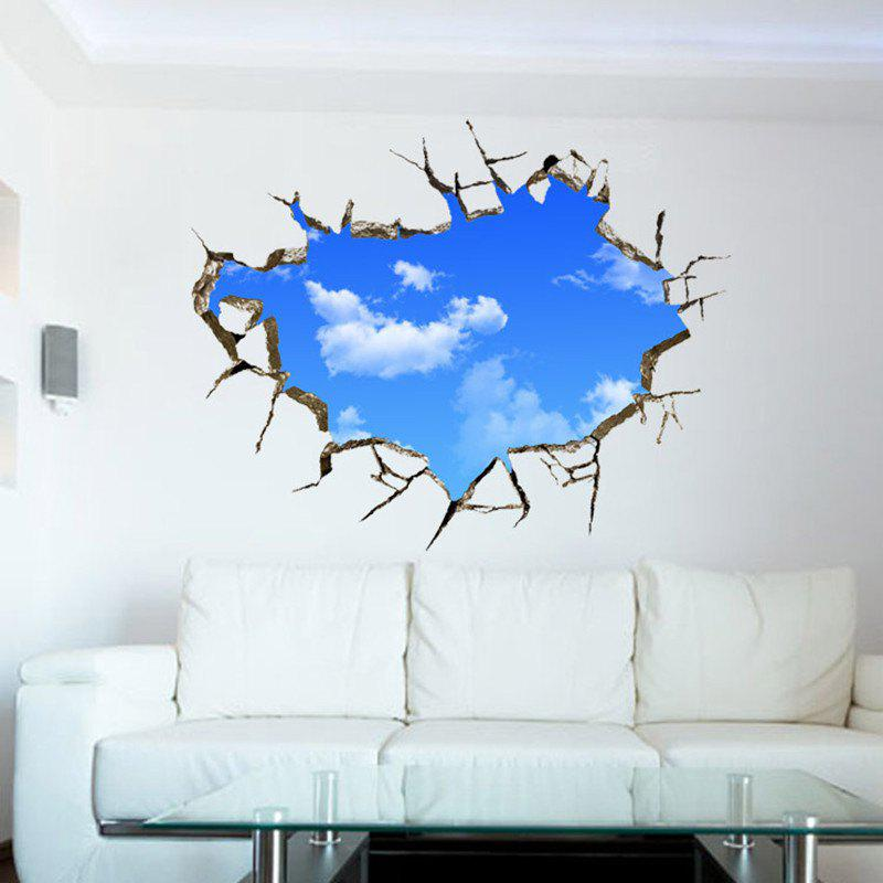 Blue Sky and White Clouds 3D Solid Ceiling Wall Sticker