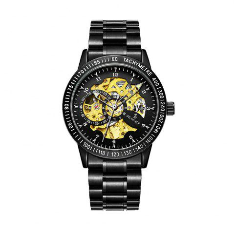 SENORS Men's Hollow-out Machinery Waterproof Military Watch
