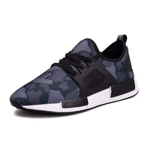 2019 Spring Men'S Sports Shoes Camouflage Mesh Breathable Wear Running Shoes