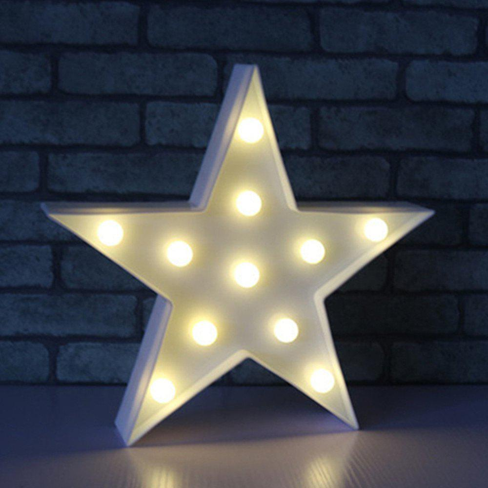 New Star Shaped LED Sign-Lighted Marquee Decoration Light
