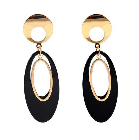 Irregular Ellipse Acrylic Geometric Temperament Acetate Plate Long Earrings