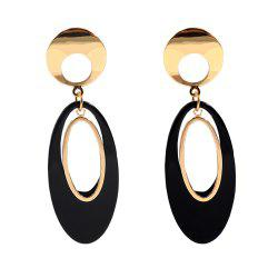 Irregular Ellipse Acrylic Geometric Temperament Acetate Plate Long Earrings -