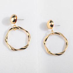 Retro Hyperbole Geometric Twisted Ring Metal Alloy Earrings -