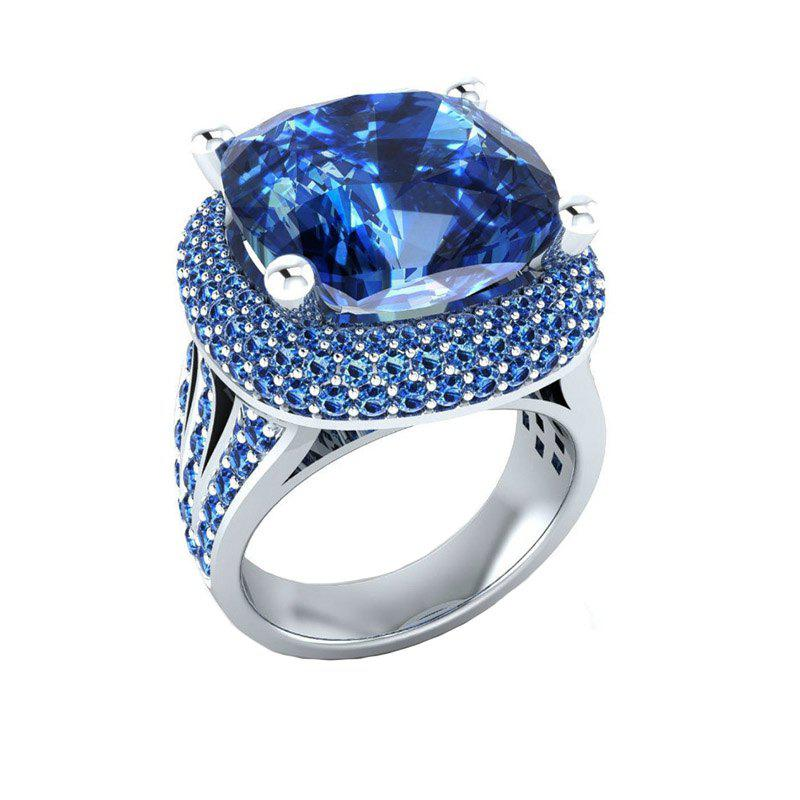 Creative Fashion Artificial Diamond Large Gem Crystal Zircon Ring