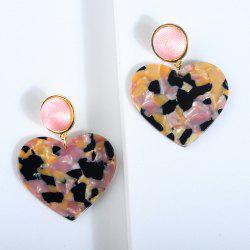New Heart-Shaped Broken Flower Crystal Acrylic Plate Long Earrings -