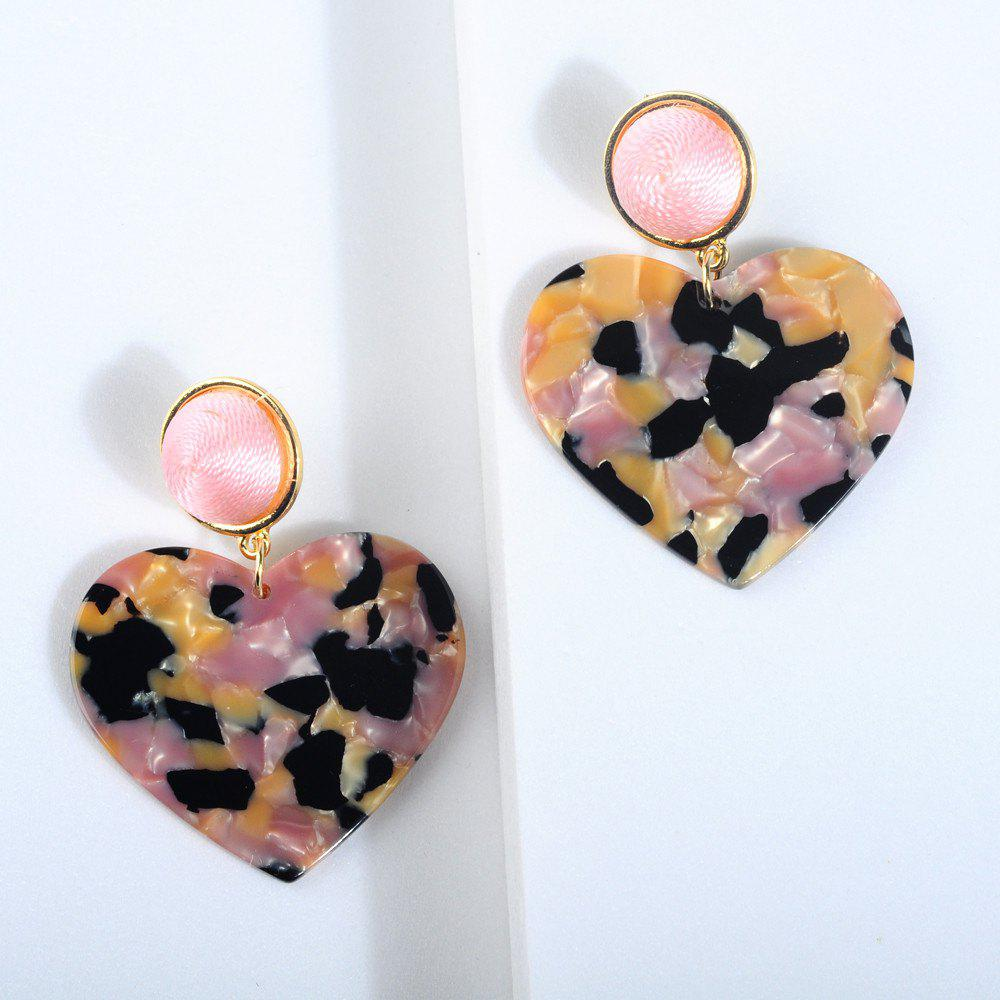 Shops New Heart-Shaped Broken Flower Crystal Acrylic Plate Long Earrings
