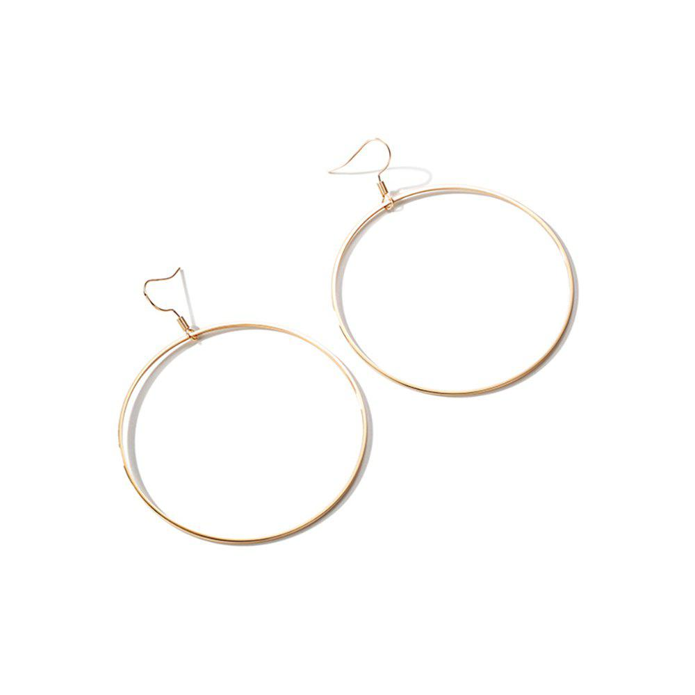Shop Fashionable Personality Metal Circle Lady Exaggerated Earrings