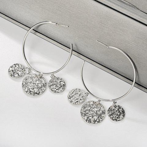 Fashion Oversized Circle Pendent Earrings