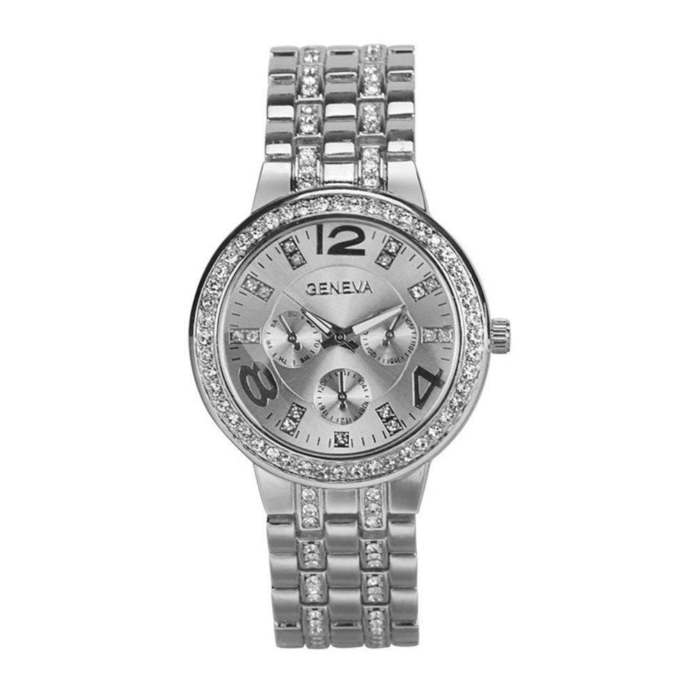 Outfit Bling Diamonds Quartz Watch for Ladies Fashion Stainless Steel Analog Watch