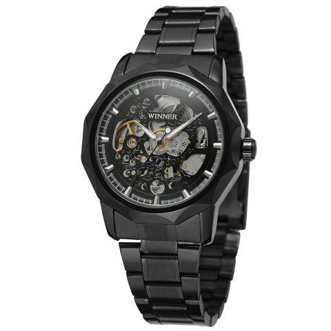 WINNER Fashion Vintage Stainless Steel Strap Casual Automatic Mechanical Watch