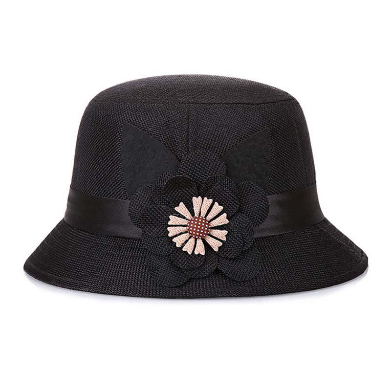ccf61dc947da4 Affordable New Lady Fashion Linen Breathable Floral Sunscreen Hat Summer  t0382
