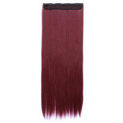Women Solid Color 70cm Long Straight Hair Extension -