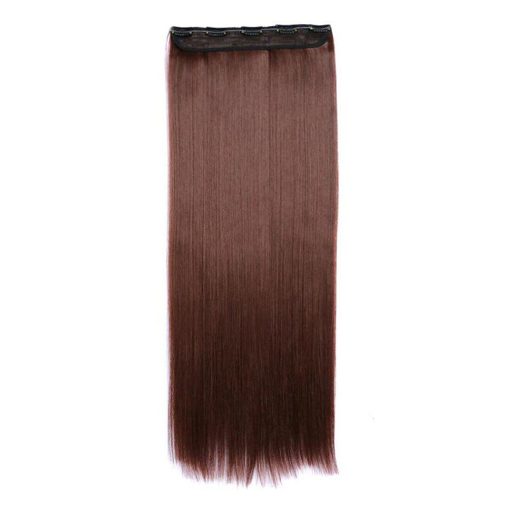 Cheap Women Solid Color 70cm Long Straight Hair Extension