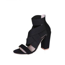 Thick Fish Mouth Hollow Sexy Female Sandals -